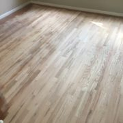 Sanded Red Oak wood floor