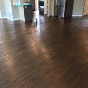 Stained and finished Red Oak flooring