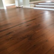 American Walnut flooring installed