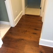 American Walnut flooring installed - transition