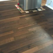 Engineered Hickory hardwood flooring with saw mark texture