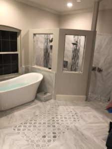 Finished remodeled bathroom
