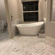 Finished remodeled bathroom