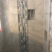 Installing glass and stone mosaic