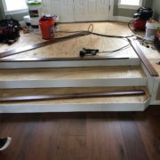 Installing American Walnut flooring on new steps