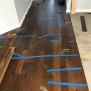 Installing engineered Hickory hardwood flooring