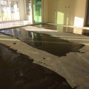 Leveling concrete slab