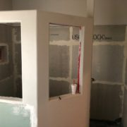 New cement backer boards installed