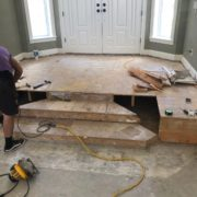 Re-framing foyer stairs