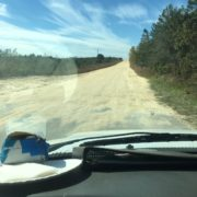 On the road to lake front project home in Ocala National Forest.