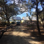 View of the lake front project home in Ocala National Forest.