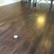 Match stained and finished White Oak flooring