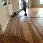 Refinishing Heart Pine floor