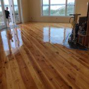 Refinishing Heart Pine floor