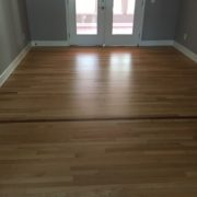 Screened and coated Red Oak flooring