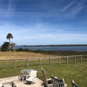View of Intracoastal Waterway from back yard of client's home.
