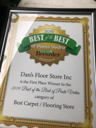 Dan's Floor Store - Best of the Best Award
