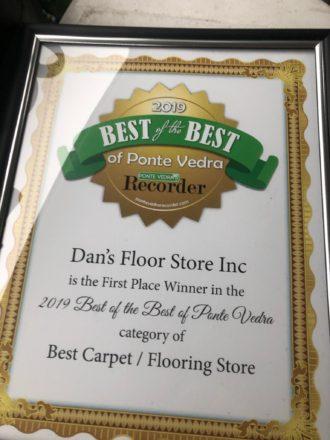 Dan's Floor Store - Best of the Best Award