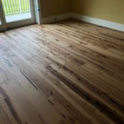Hickory hardwood flooring installed