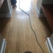 Sanding and hand scraping Maple floor