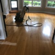 Sanding and hand scraping Maple floor