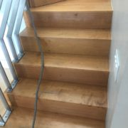 Stairway to be sanded and hand scraped
