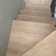 White washed look staircase