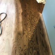 Applying Bona stain to Red Oak flooring