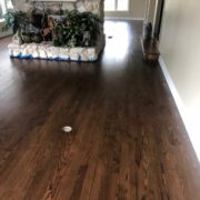 Finished Red Oak flooring