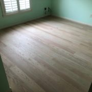 Installed Red Oak flooring