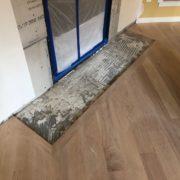Installed Red Oak flooring