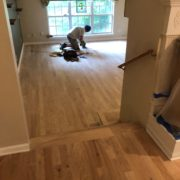 Installing new Red Oak hardwood plank