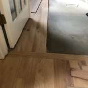 Installing new Red Oak hardwood planks