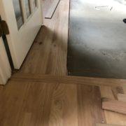 Installing new Red Oak hardwood planks