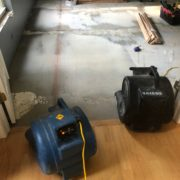 Lining up to old flooring lines on leveled concrete sub-floor.