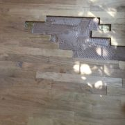 Making weave-in repairs to Red Oak floor