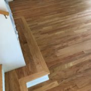 Popped grain, sanded Red Oak flooring