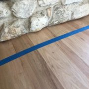 Red Oak flooring - cut to fit fireplace