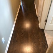 Red Oak flooring - installed, custom stained, and finished
