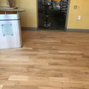 Bar wood floor - Matthew's Restaurant - after sanding