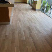 Bar wood floor - Matthew's Restaurant - after sanding