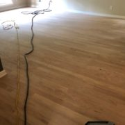 Sanding Red Oak hardwood flooring