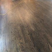 Stained, finished Red Oak hardwood flooring