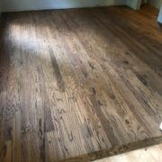 Stained new Red Oak flooring