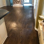 Stained Red Oak hardwood flooring