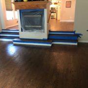 Stained Red Oak hardwood flooring