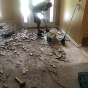 Tile being removed