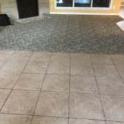 Tile and carpet to be removed