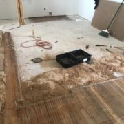 Cutting existing White Oak flooring for weave in