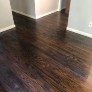 Finishing stained Southern Yellow Pine flooring